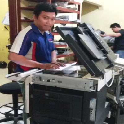 Finishing  test Sebelum  unit  mesin  diantar  ke  customer